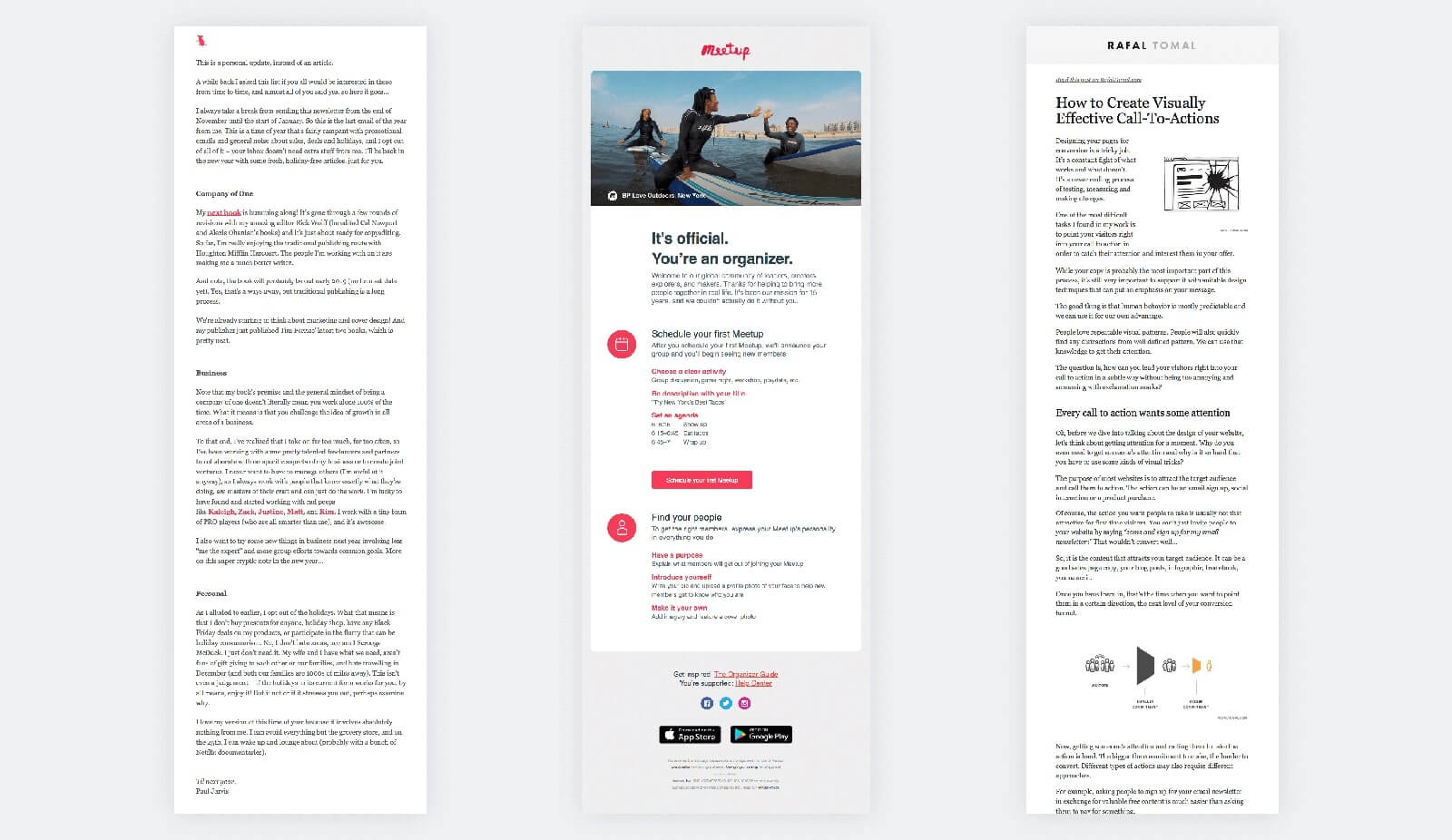 Read aloud email design examples